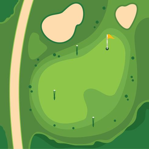 Golf course, Overhead View