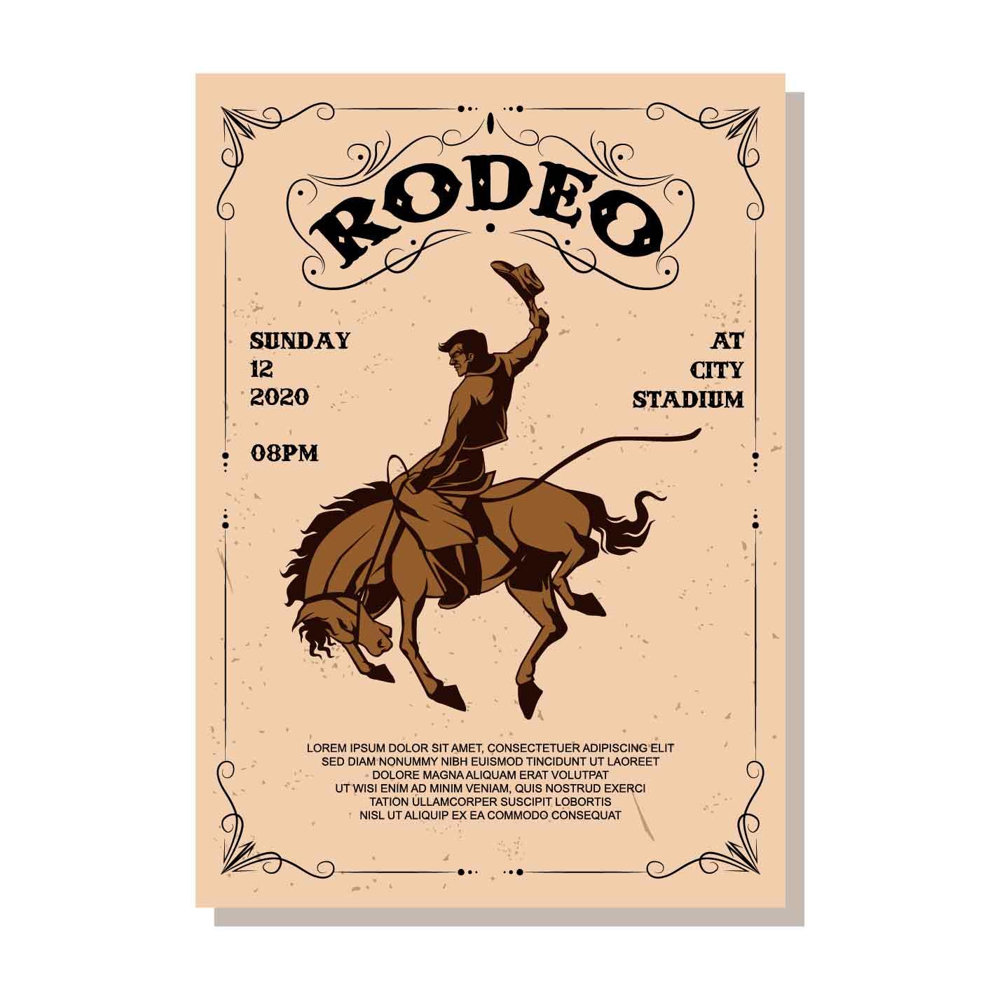 Rodeo Flyer Vector - Download Free Vectors, Clipart ...