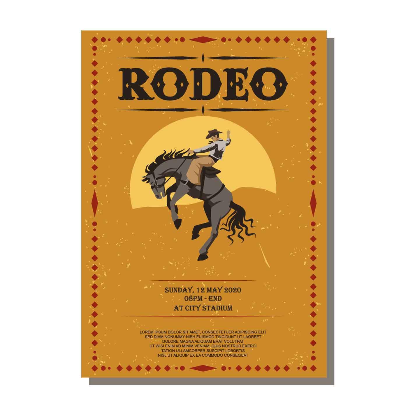 Rodeo Flyer Vector Download Free Vectors Clipart