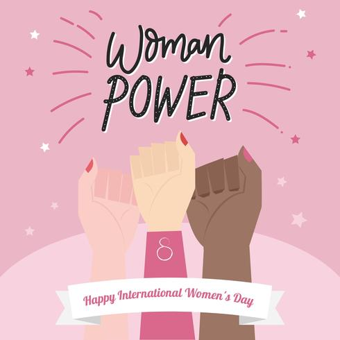 Woman Power Illustration Vector