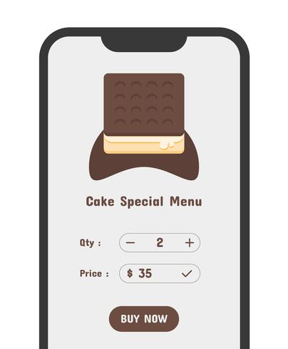 purchase cake app illustration