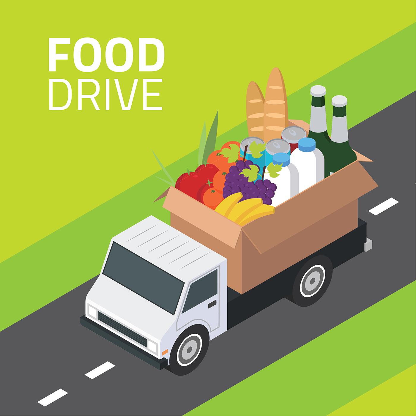 Food Drive Isometric Vector - Download Free Vector Art ...