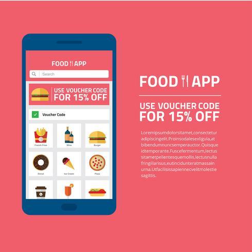 Vettore di app di cibo