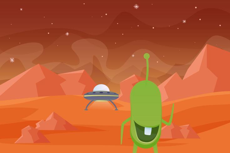 Unique Martian Landscape Vectors