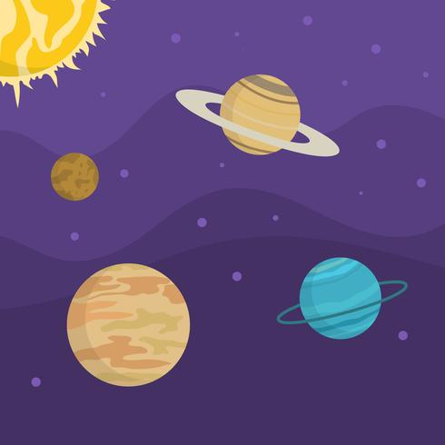 Flat Ultra violet galactic vector background