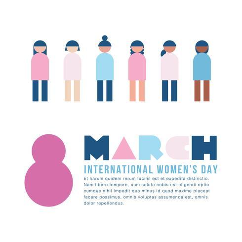 Groupe de femmes de différents pays avec un message