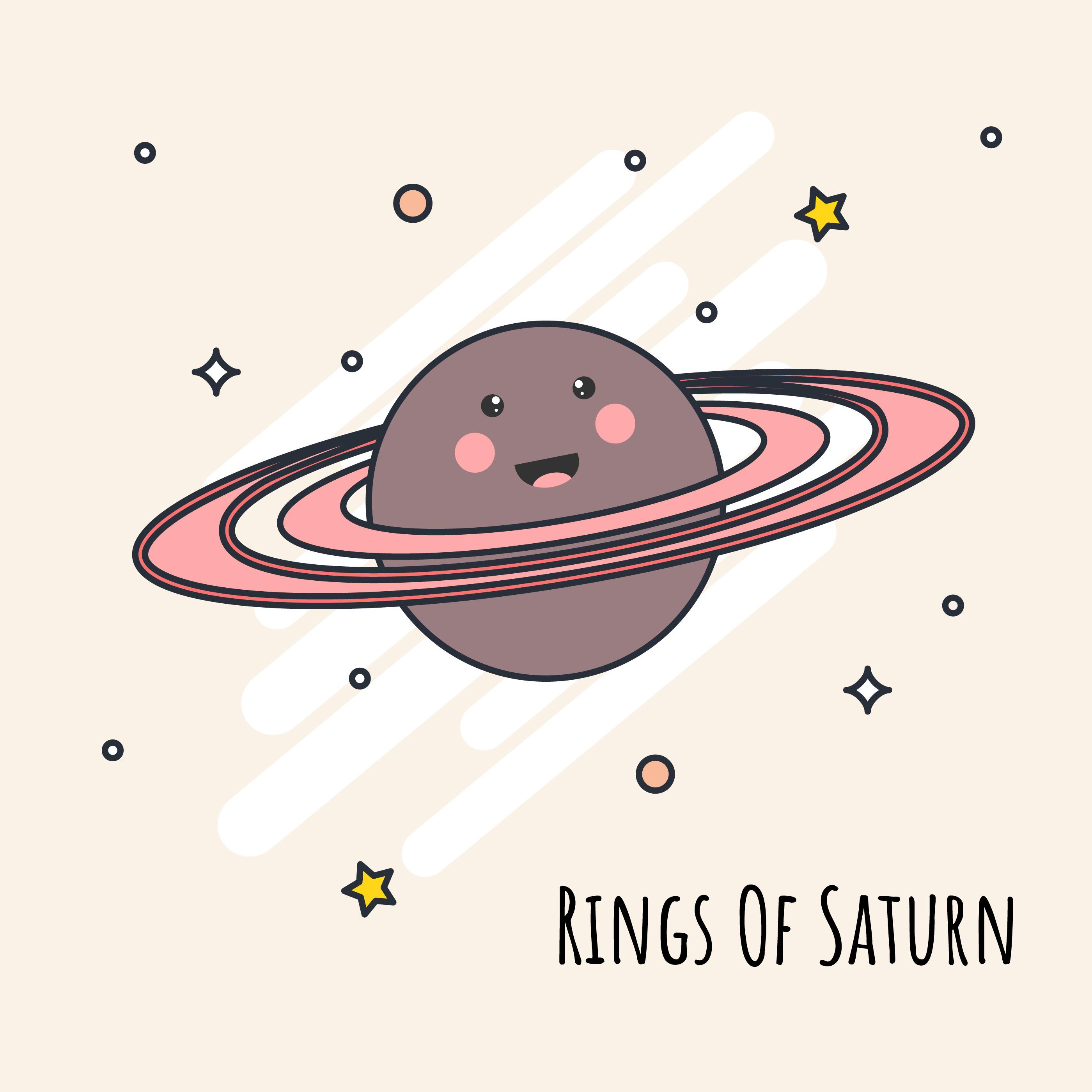 сатурн рисунок цветной понять