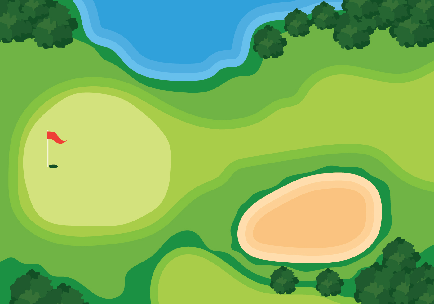 Overhead View Golf Course Illustration Download Free Vector Art Stock Graphics Amp Images