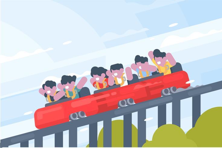 Ilustración de la montaña rusa