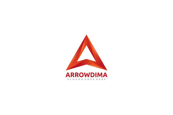 Une lettre -Arrow Logo vecteur