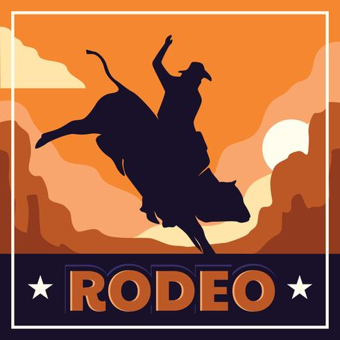 Rodeo Illustration Flyer Vorlage