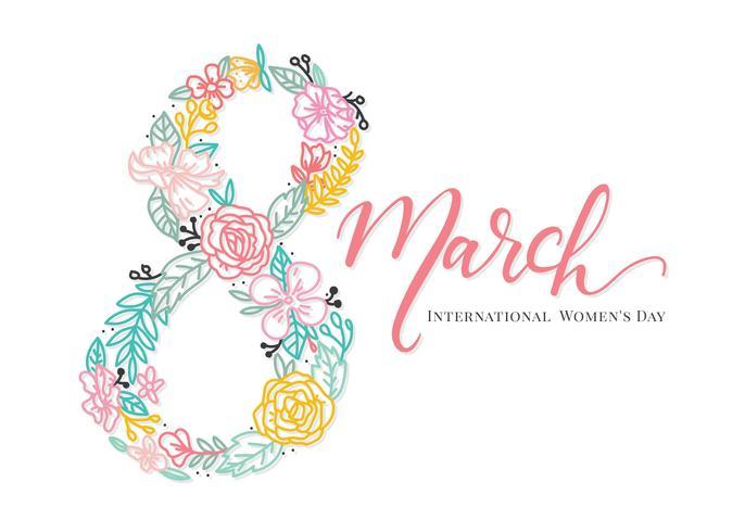 Vecteur de fond de la journée internationale de la femme
