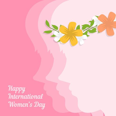 Flat International Womens Day Vector Illustration