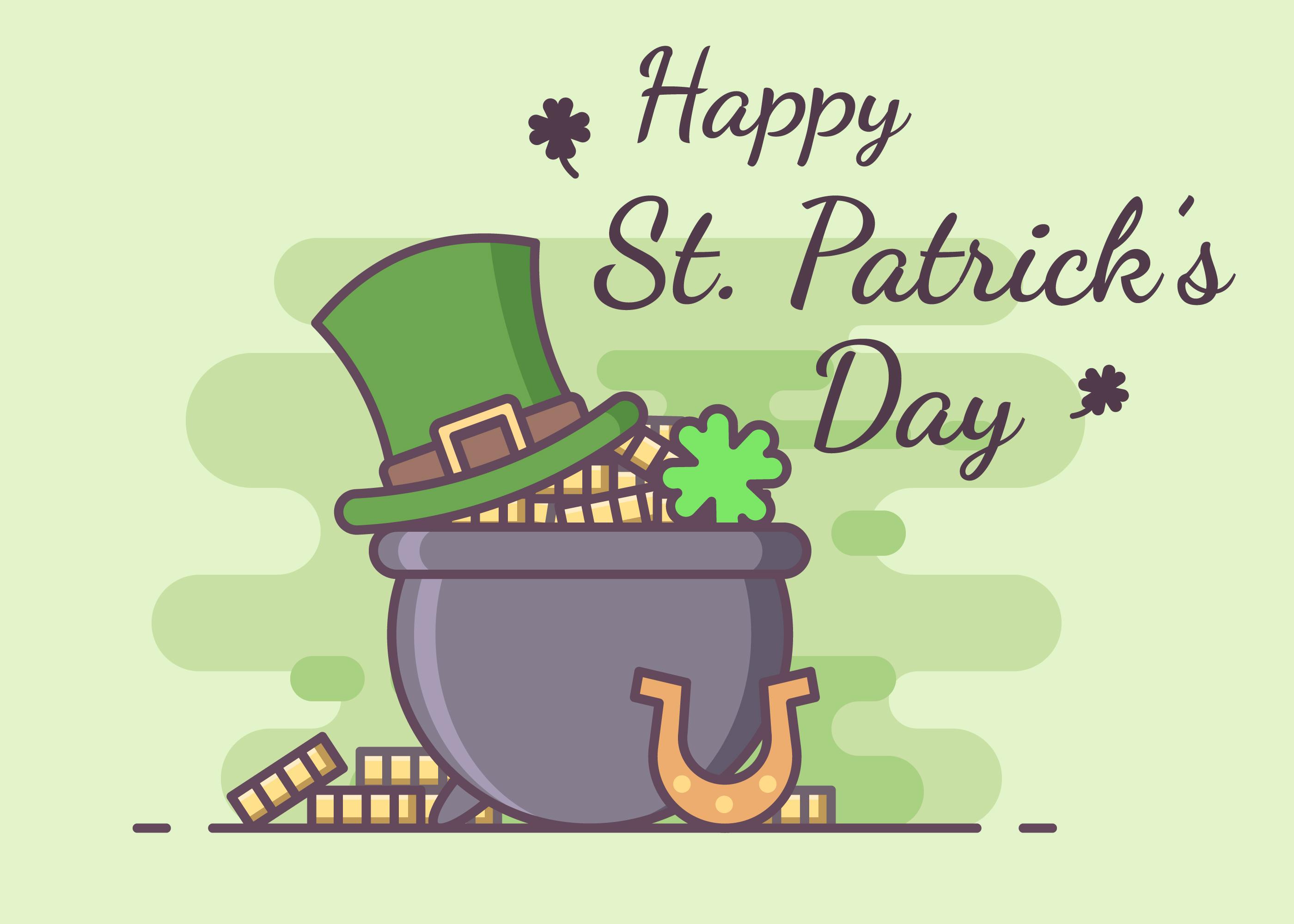 St Patricks Day Greeting Celebration Download Free Vector Art