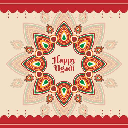 Happy Ugadi Template Greeting Card For Holiday