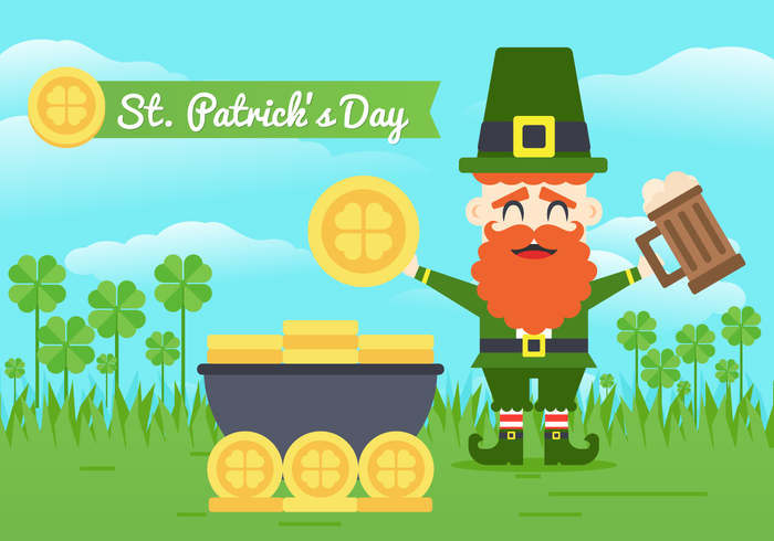 St Patricks Day fond vecteur