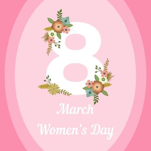 Illustration vectorielle de plat international Womens Day