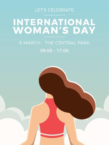 International Woman's Day Girl Poster