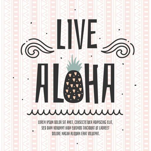 Lebe Aloha-Vektor