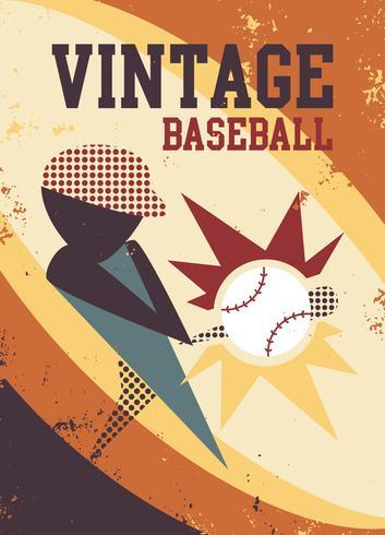 Abstrakter Baseball-Spieler-Vektor
