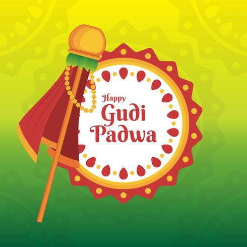 Gudi Padwa célébration de l'Inde Illustration
