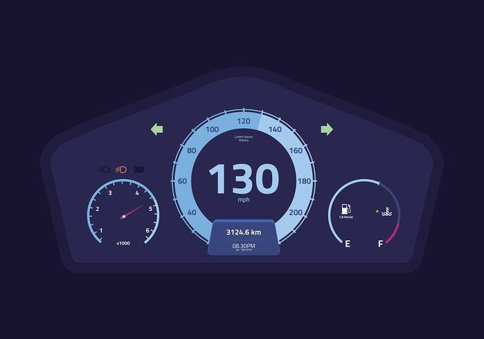 Auto Dashboard UI Vector