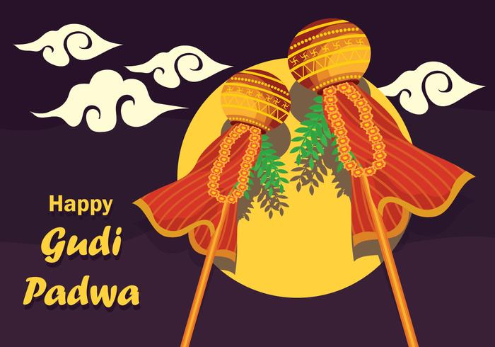 Gudi Padwa Vector Illustration