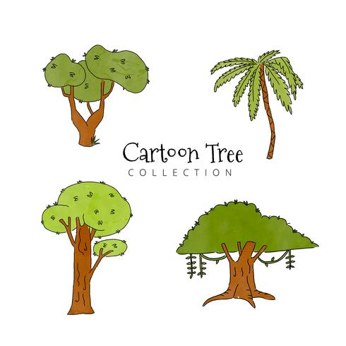 Cute Cartoon Tree Collection