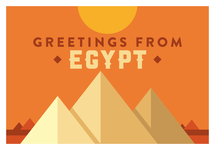 Egypt Postcard Vector