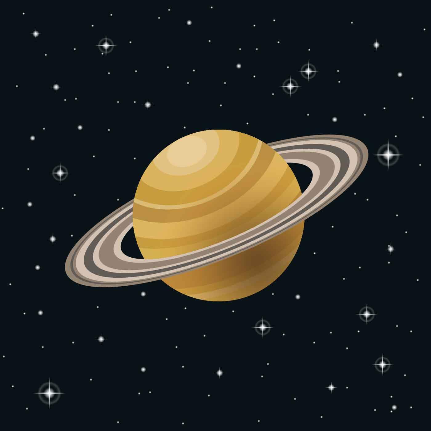 сатурн рисунок цветной выполняем одну петлю