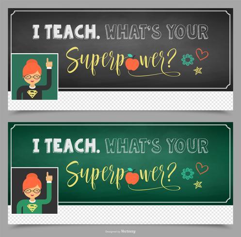 Lehrer Facebook Cover Vektor-Design