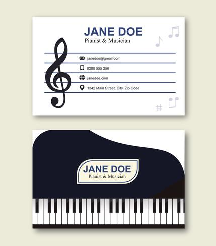 Musician business card template download free vector art stock musician business card template colourmoves