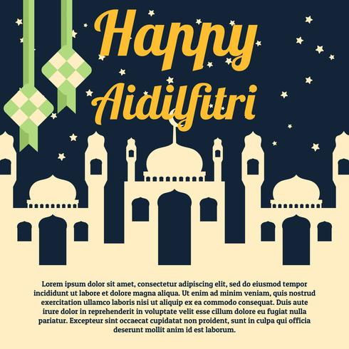 Aidilfitri Background vector