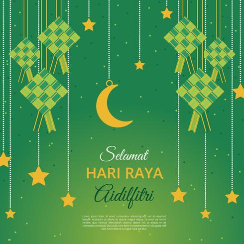 Aidilfitri Greeting Card Vector Template Download Free