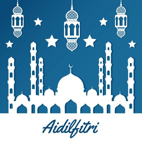 Vecteur de fond Aidifitri