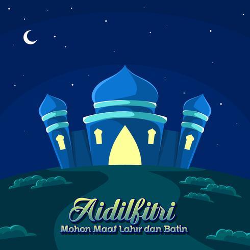 Night Of Aidilfitri Vector