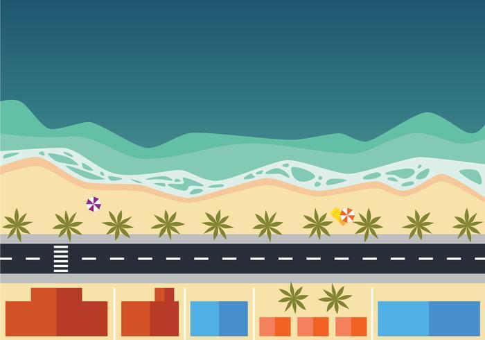 Carte de la plage avec la maison