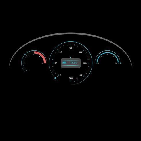 Car Dashboard UI Illustration Vector