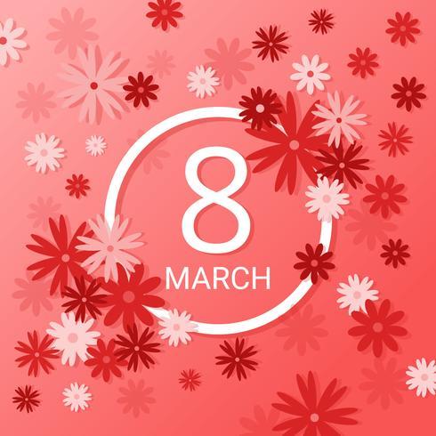 8 mars Vecteur de la journée internationale des femmes