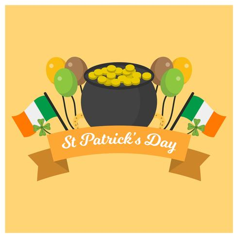 Flat St Patrick's Day Vector Illustration