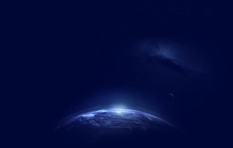 Earth with galaxy picture