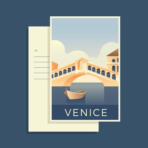 Postcards Of The World Venice Vector