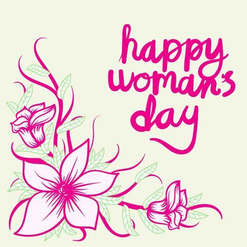 Glücklicher Frauen-Tageshintergrund