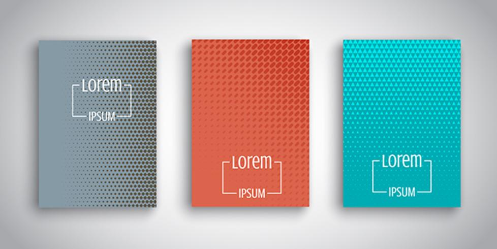 Abstract designs for brochure templates