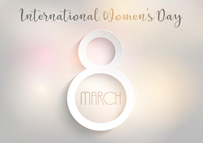 International Women's Day background with bokeh lights design