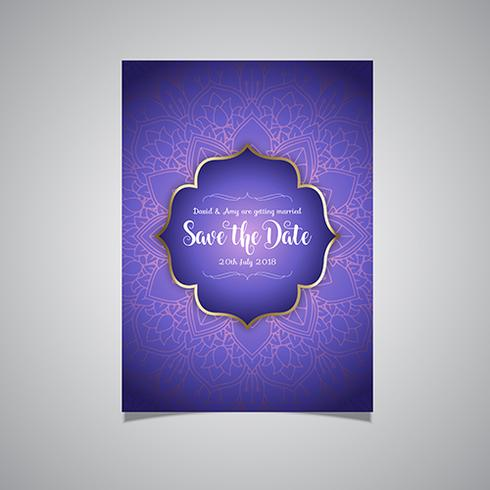 Luxury save the date invitation