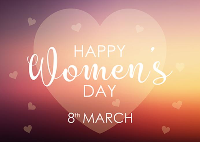 Womens day background with pastel heart design