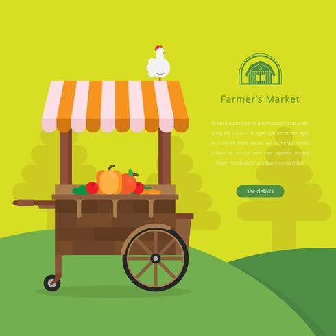 Farmers Market Logo Illustration
