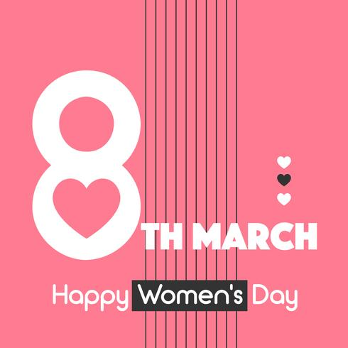 Typografie Happy Women's Day Vektor