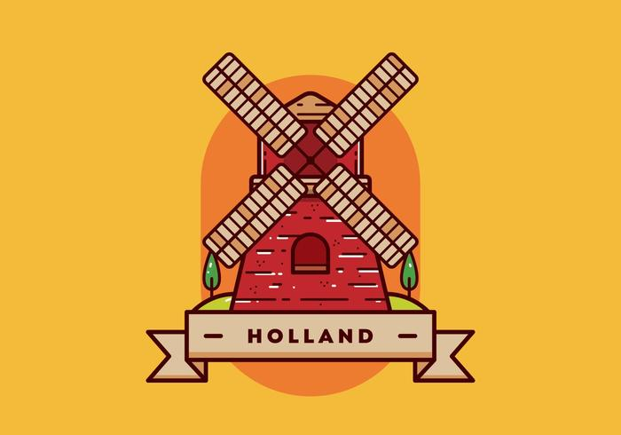Holland Postkarte Vektor